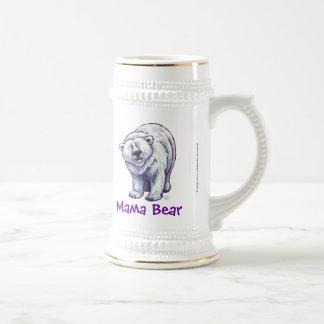 Mama Bear Polar Bear Stein Mugs