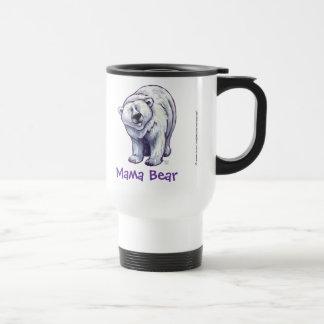 Mama Bear Polar Bear Travel Mug