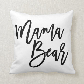 Mama Bear Throw Pillow