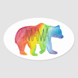 Mama Bear Watercolor Family Pride Sticker
