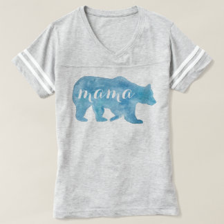 Mama Bear Watercolor Football Tee
