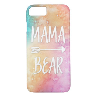 Mama Bear watercolor phone case