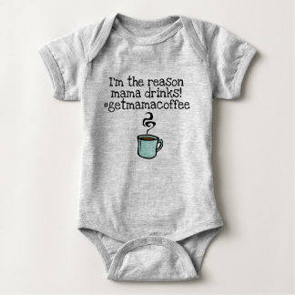 mama drinks coffee baby bodysuit