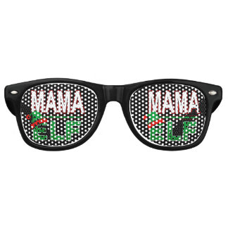Mama Elf | Christmas Holiday Elf Family Funny | Retro Sunglasses