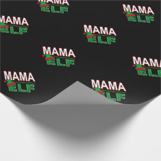 Mama Elf | Team Elf Christmas Holiday Family | Wrapping Paper