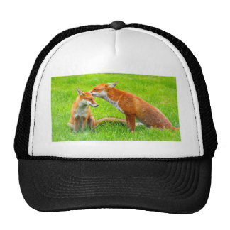Mama Fox Cares For Her Baby Trucker Hat