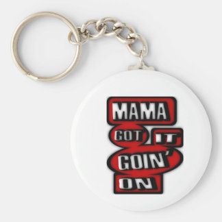 Mama Got It Goin' On With Boxes And  Circles Keychain