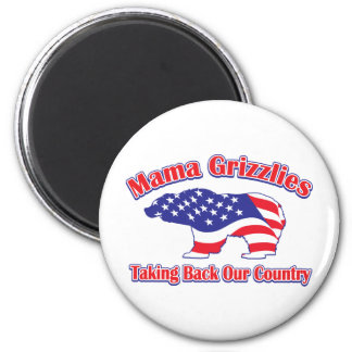 Mama Grizzlies Taking Back Our Country 2 Inch Round Magnet