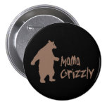 Mama Grizzly 3 Inch Round Button