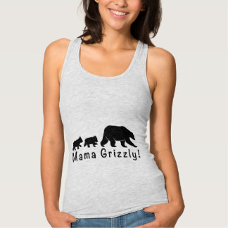 Mama Grizzly Bear and Cubs Tank Top