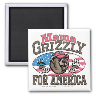 Mama Grizzly Gear for Patriotic Moms Square Magnet