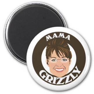 Mama Grizzly Sarah Palin 2 Inch Round Magnet
