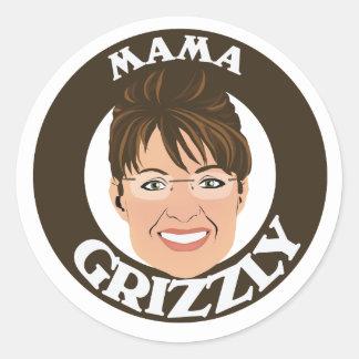 Mama Grizzly Sarah Palin Round Sticker