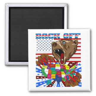Mama-Grizzly-Set-1 Square Magnet