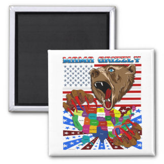 Mama-Grizzly-Set-2 Square Magnet