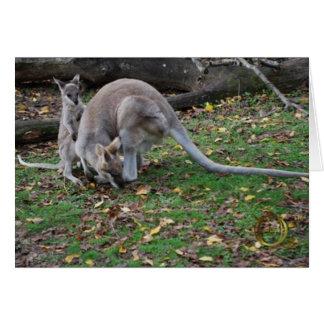 Mama Kangaroo and Joey Greeting Card