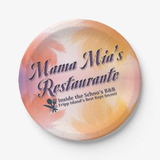 Mama Mia's Restaurante Paper Plate
