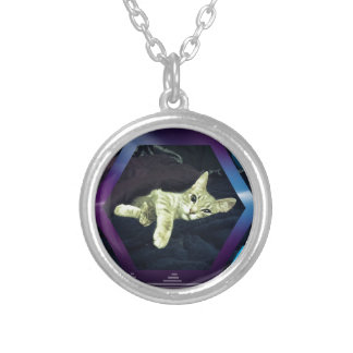 Mama Mimi & her Baby Kitties Silver Plated Necklace