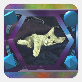 Mama Mimi & her Baby Kitties Square Sticker