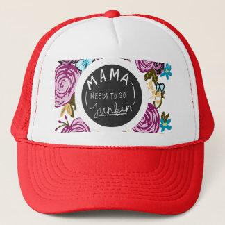 mama needs to go junkin trucker hat