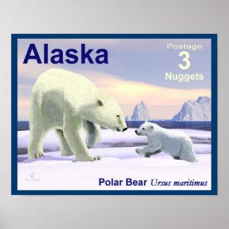 Mama Nose Best - Alaska Postage Poster
