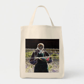 Mama Scarecrow Grocery Tote Bag