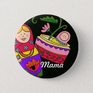 Mama Ukrainian Folk Art 2 Inch Round Button