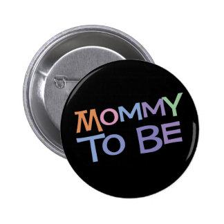 Maman à être macaron rond 5 cm