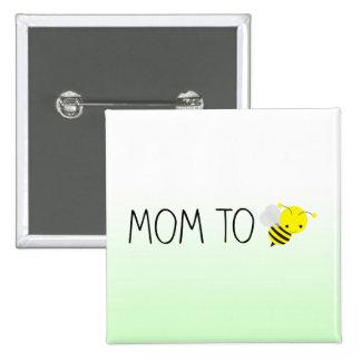 Maman à être, vert de bourdon/jaune mignons macaron carré 5 cm