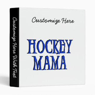 Maman Blue T-shirts et cadeaux d'hockey Classeurs 3 Anneaux