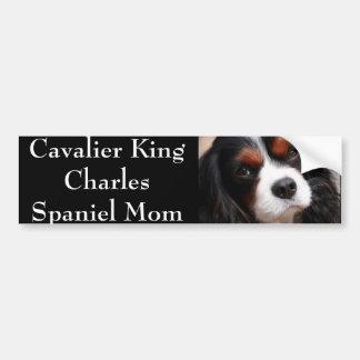 Maman cavalière d'épagneul du Roi Charles Autocollant De Voiture