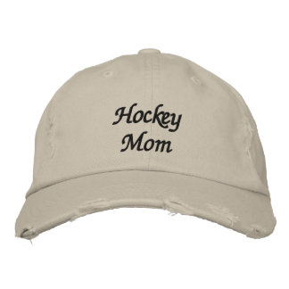 Maman d hockey chapeau brodé