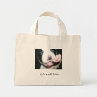 Maman de border collie sac en toile mini