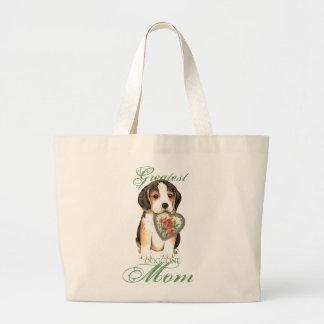 Maman de coeur de beagle sac en toile jumbo