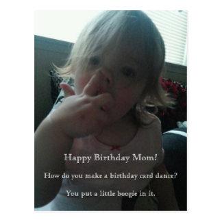 Maman de danseur de joyeux anniversaire cartes postales