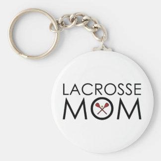 Maman de lacrosse porte-clé rond