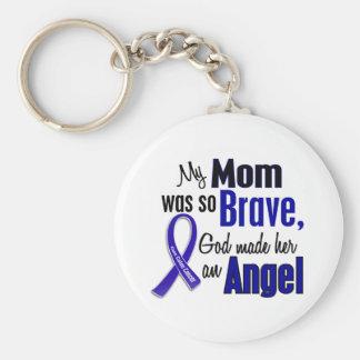 Maman de l'ANGE 1 de cancer du colon Porte-clé Rond