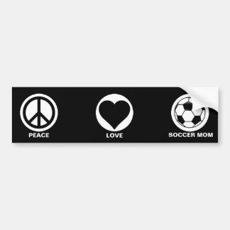 Maman de paix/amour/football autocollant de voiture