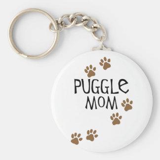 Maman de Puggle Porte-clé Rond