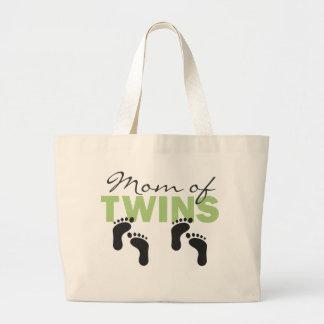 Maman des jumeaux sac en toile jumbo