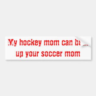 Maman d'hockey autocollant de voiture