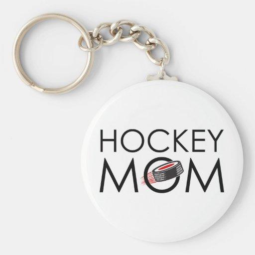 Maman d'hockey porte-clef