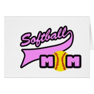 Maman du base-ball carte de vœux