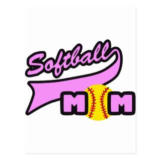 Maman du base-ball carte postale