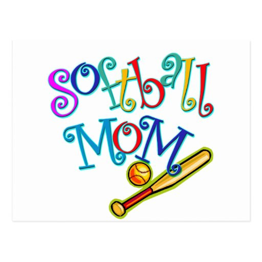 Maman du base-ball cartes postales