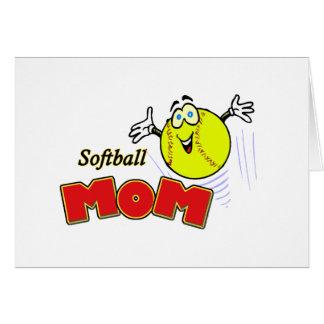 Maman du base-ball II Carte De Vœux