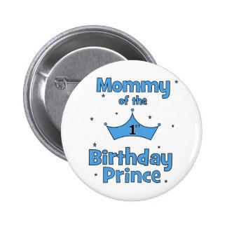 Maman du ęr prince d'anniversaire ! macaron rond 5 cm
