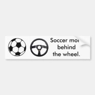 Maman du football autocollant de voiture