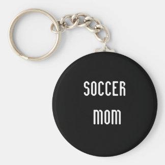 Maman du football porte-clé rond