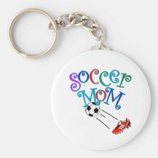 Maman du football porte-clé